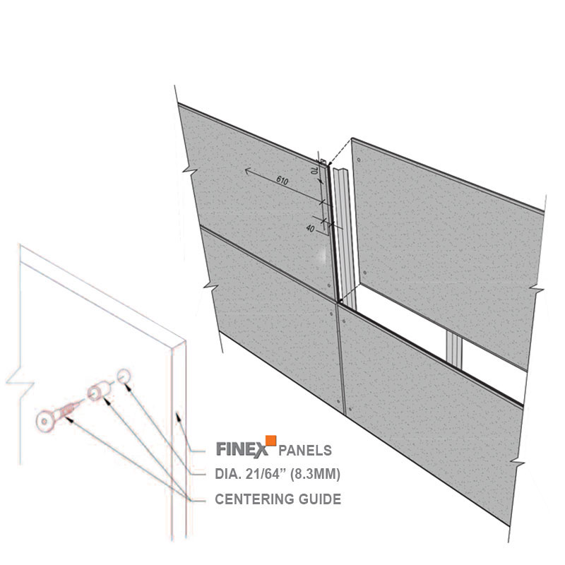 Press-Fit fixation system for fiber cement panels